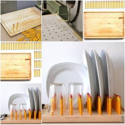How to make Plate Rack step by step DIY tutorial instructions thumb