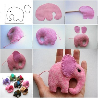 How to make Pocket Elephant step by step DIY tutorial instructions thumb