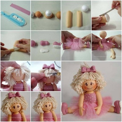 How to make Polymer Clay Ballerina Biscuit step by step DIY tutorial instructions thumb