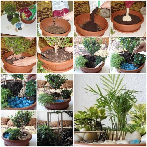 How to make Pot Mini Garden step by step DIY tutorial instructions thumb