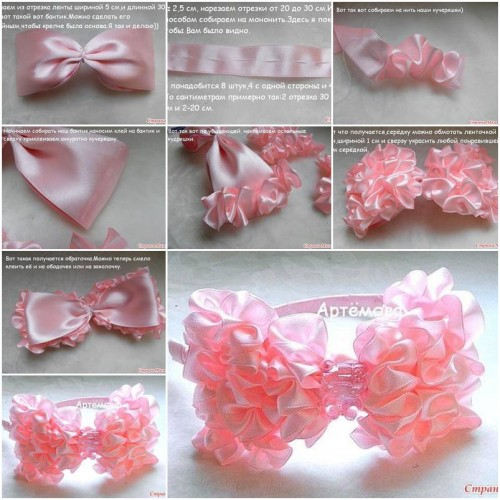 How to make Pretty Pink Bow step by step DIY tutorial instructions thumb