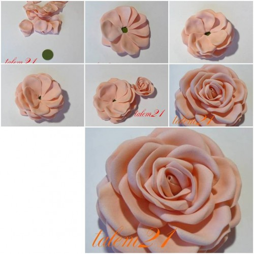 How to make Quick Modular Rose step by step DIY tutorial instructions thumb