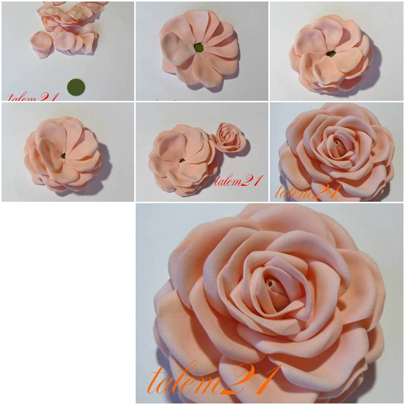 how to make quick modular rose step by step diy tutorial