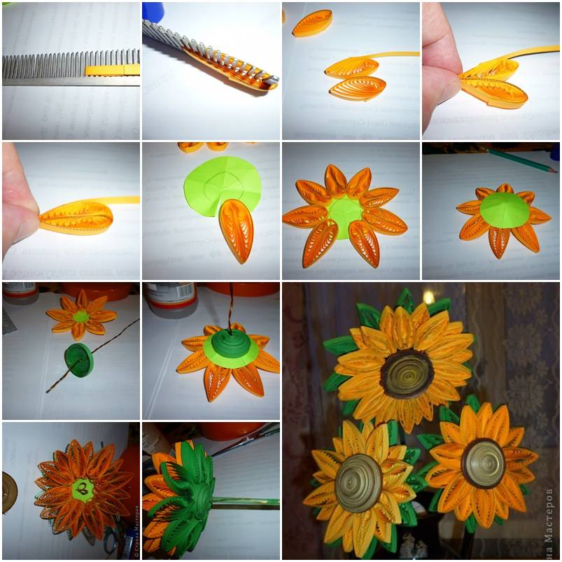 Make Quilling Sunflower How to Make Quilling Sunflower
