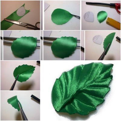 How to make Ribbon Leaf step by step DIY tutorial instructions thumb
