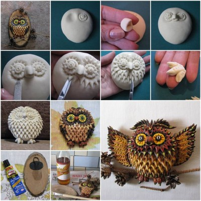 How to make Salt Dough Owl step by step DIY tutorial instructionsl thumb