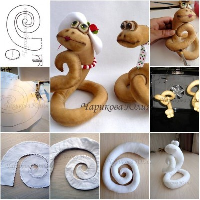 How to make Sew Fabric Snake step by step DIY instructions thumb