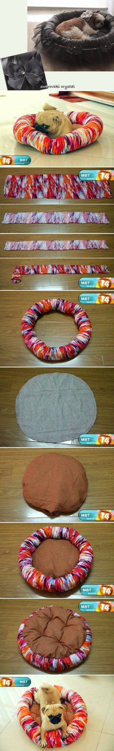 How to make Sew Pet Bed step by step DIY tutorial instructions