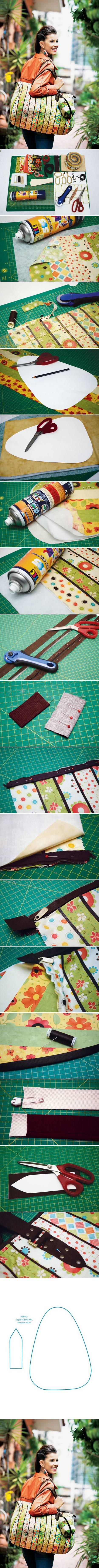 How to make Sew Travel Bag step by step DIY tutorial instructions