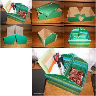 How to make Shoe Box Organizer step by step DIY tutorial instructions thumb