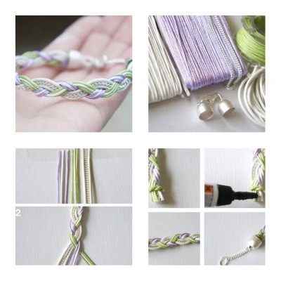 How to make Simple Beautiful Bracelet step by step DIY tutorial instructions thumb