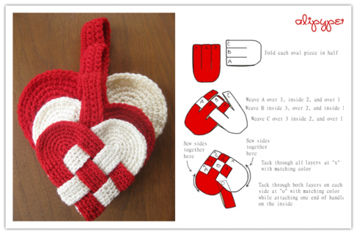 How To Make Lovely Crochet Danish Hearts How To Instructions