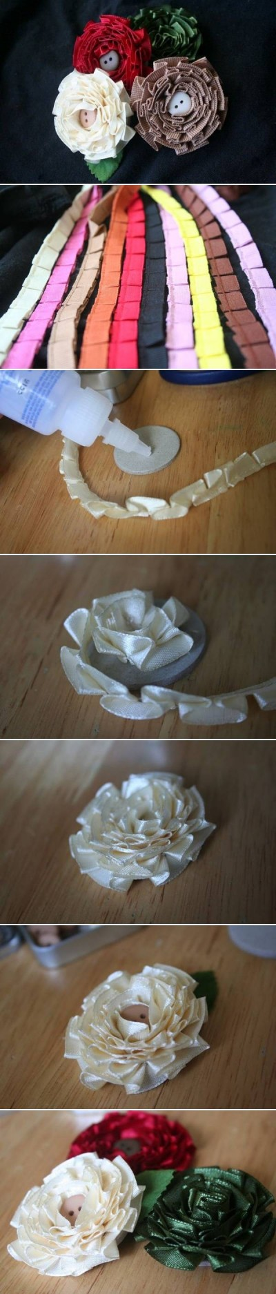 How to make Simple Flower of Tapes step by step DIY instructions
