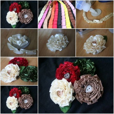 How to make Simple Flower of Tapes step by step DIY instructions thumb
