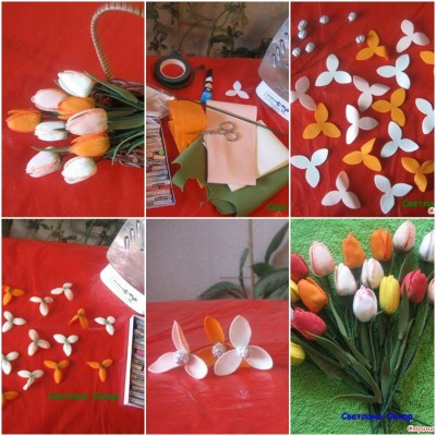 How to make Small Tulips step by step DIY tutorial instructions thumb