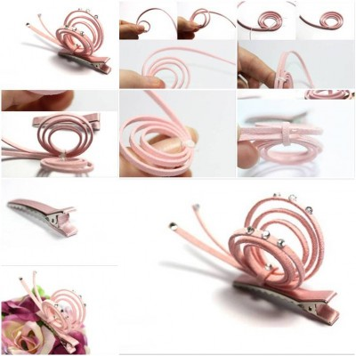 How to make Snail Hairpin step by step DIY tutorial instructions thumb