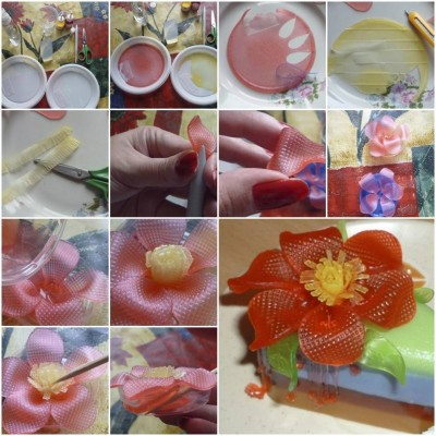 How to make Soap Flower step by step DIY tutorial instructions thumb