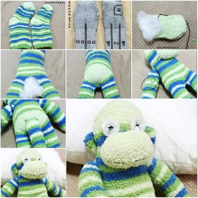 How to make Sock Monkey Terry step by step DIY tutorial instructions thumb