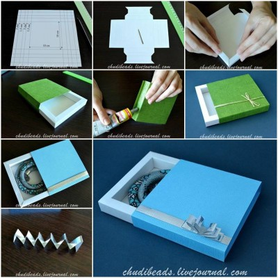 How to make Square Gift Box step by step DIY tutorial instructions thumb