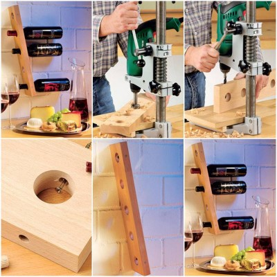 How to make Stand for Wine Bottles step by step DIY tutorial instructions thumb