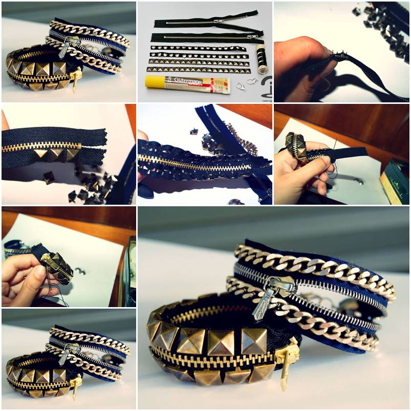 How To Make Stylish Studded Bracelet Step By Step DIY