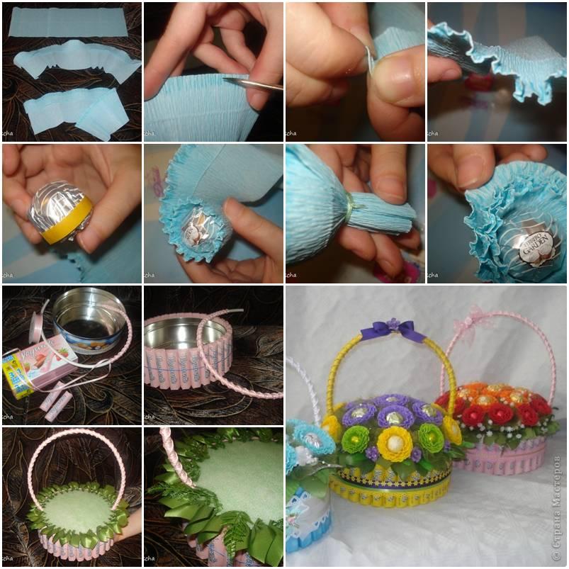 Сделать поделку из конфет своими руками 9