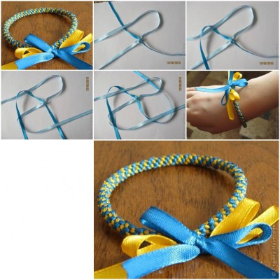 How to make Tape Baubles Bracelet step by step DIY tutorial instructions thumb