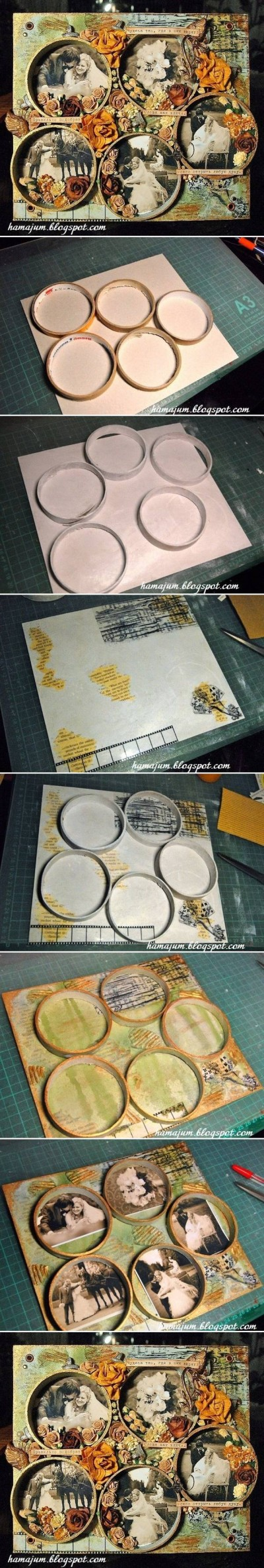 How to make Tape Reel Picture Frame step by step DIY instructions