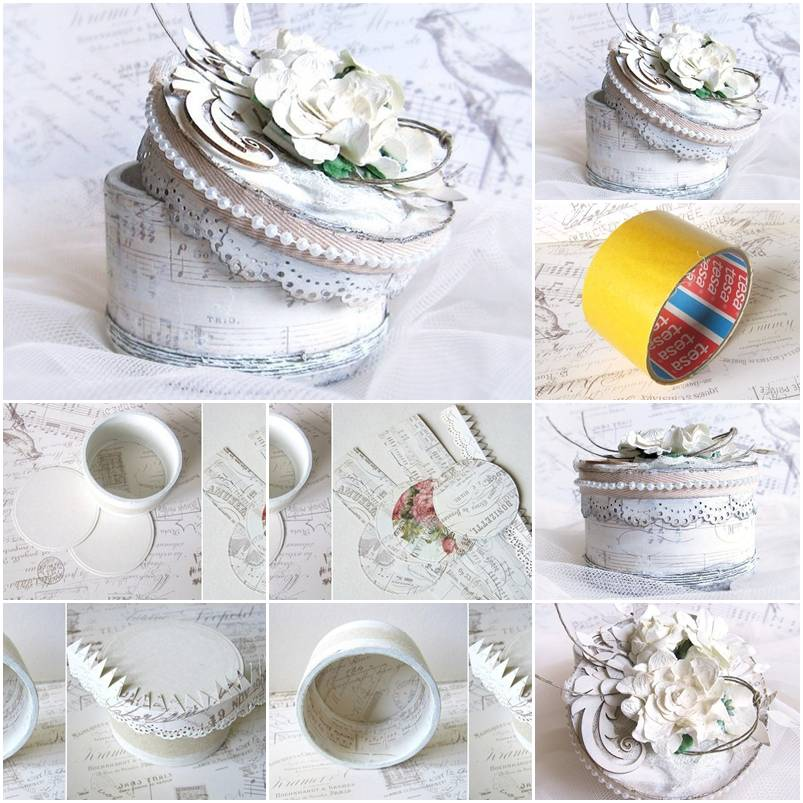 How to make tape roll jewelry box step by step diy for How to build a ring box