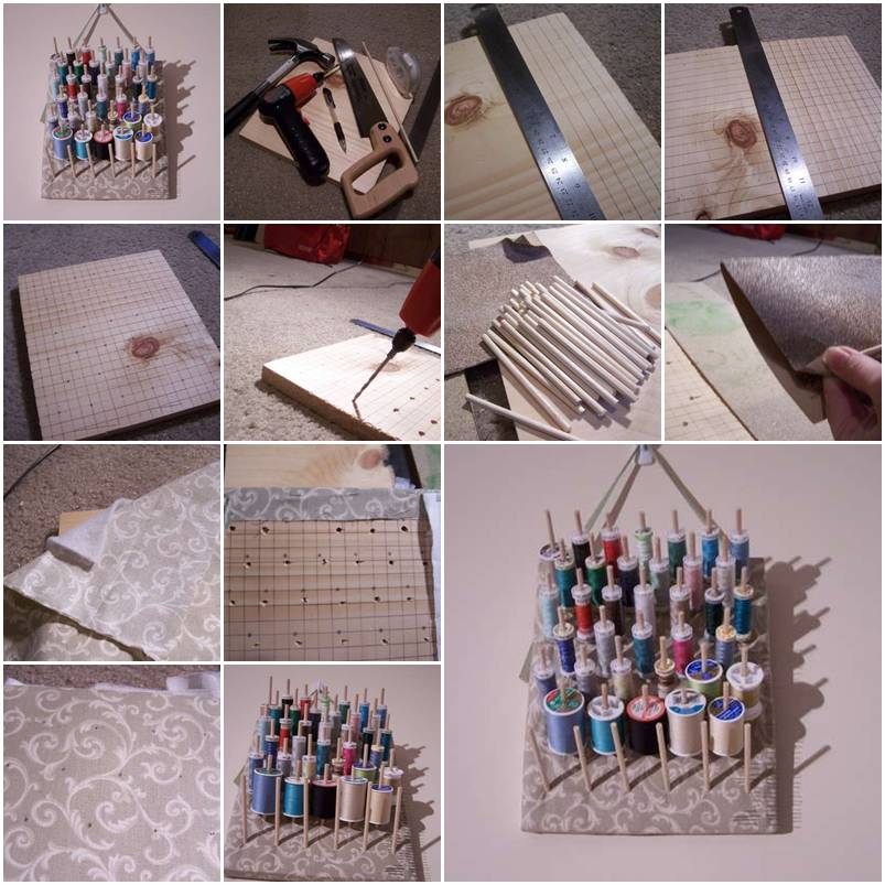 how to make a thread holder