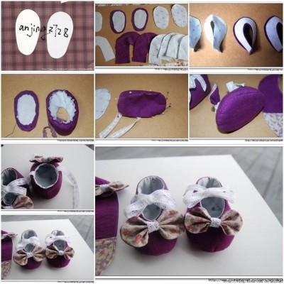 How to make Tiny Baby Shoes step by step DIY tutorial instructions thumb