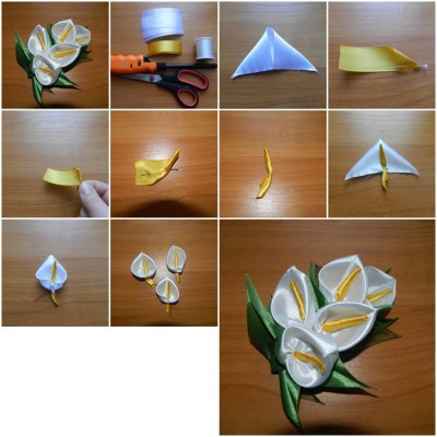 How to make Unusual Flower Brooch step by step DIY tutorial picture instructions thumb