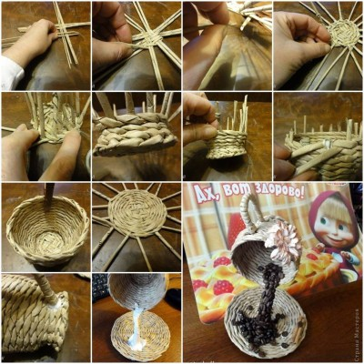 How to make Weave Tea Cup step by step DIY tutorial picture instructions thumb