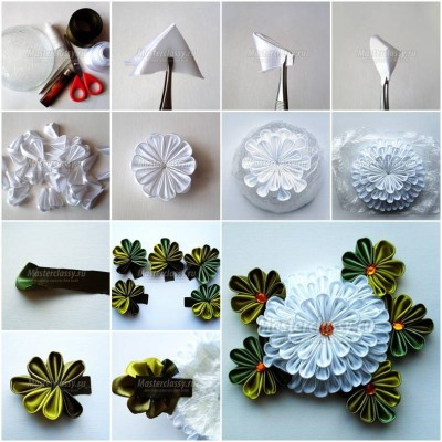 How to make White Chrysanthemum Flower step by step DIY tutorial picture instructions thumb