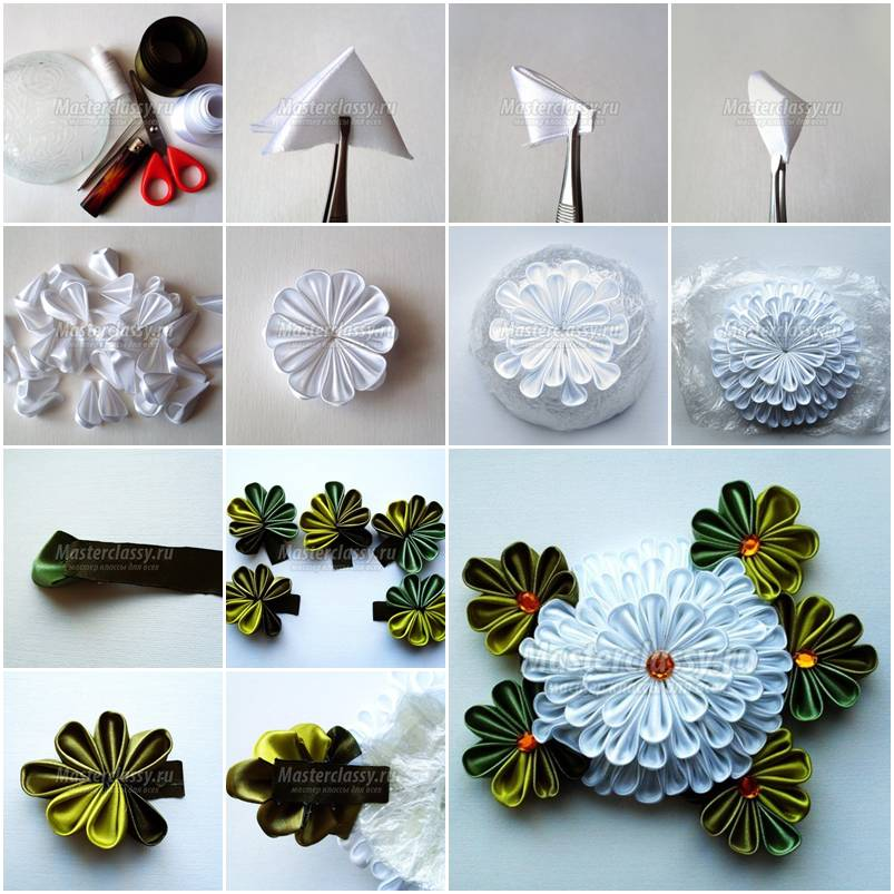 How to make white chrysanthemum flower step by step diy for Handmade flowers for decoration step by step