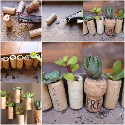 How to make Wine Cork Garden step by step DIY instructions thumb