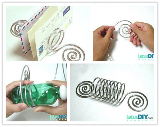 How to make Wire Letter Stand step by step DIY tutorial picture instructions