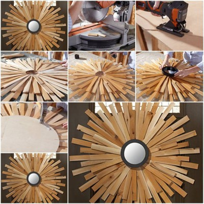 How to make Wooden Sunburst Wreath step by step DIY tutorial picture instructions thumb