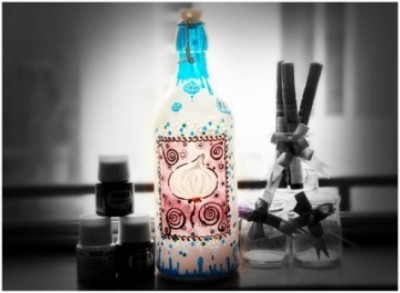How to make beautiful decoration bottle in step by step DIY tutorial instructions thumb