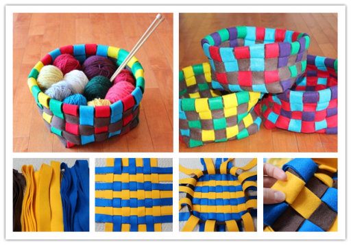 How to make colorful basket step by step DIY tutorial picture instructions