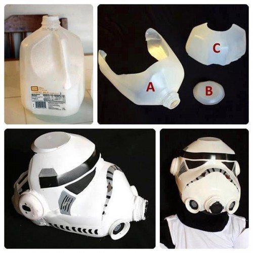 How to make cool mask with recycled plastic bottle step by ...