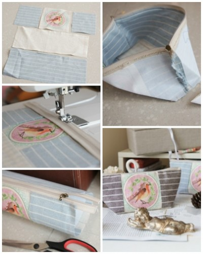 How to make cosmetic bag step by step DIY tutorial picture instructions thumb
