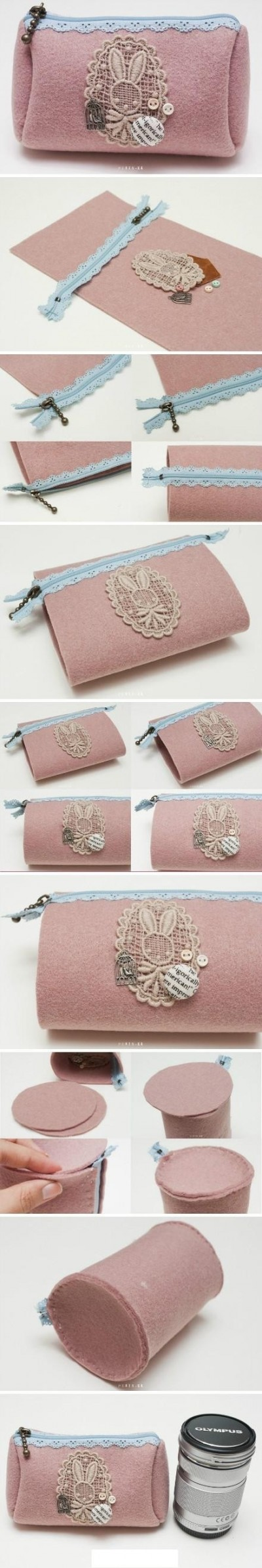 How to make cute bunny hand bag step by step DIY tutorial picture instructions