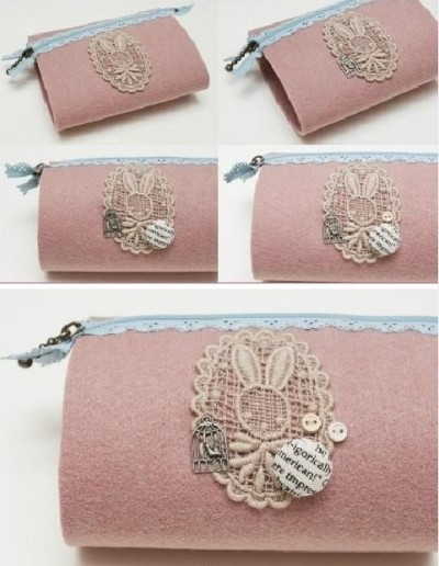 How to make cute bunny hand bag step by step DIY tutorial picture instructions thumb
