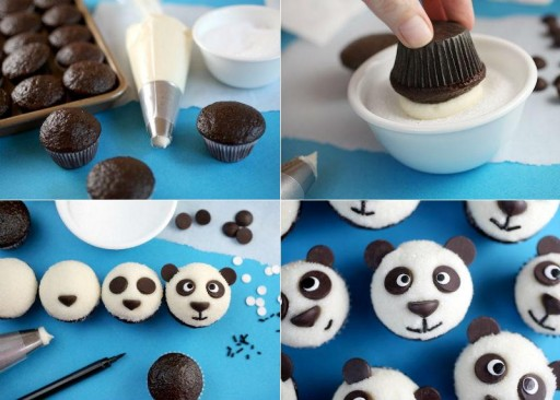 How To Make Cute Panda Cup Cakes Step By Step Diy Tutorial