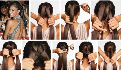 How to make easy and stylish hair style step by step DIY tutorial instructions