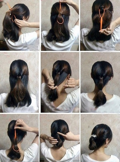 How to make easy hair style fast step by step DIY tutorial instructions | How To Instructions