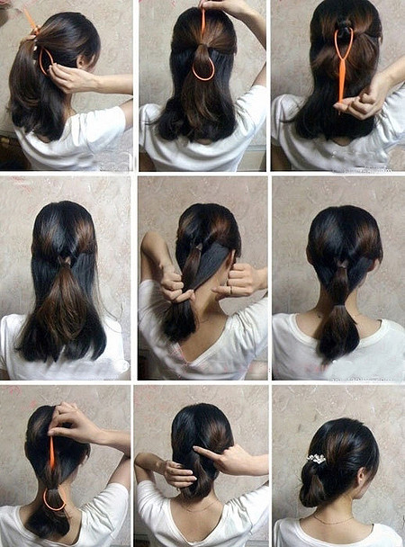 How To Make Easy Hair Style Fast Step By Step Diy Tutorial Instructions How To Instructions