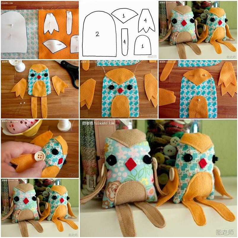 How to make lovely Fabric Bird Toy step by step DIY ...