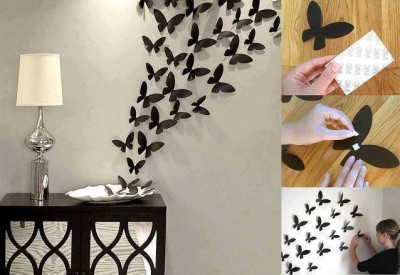 How to make lovely butterfly wall step by step DIY tutorial instructions